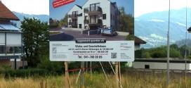 Bautafel – Projekt Schweizer Tropen