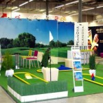 Golfbahnen, inkl. Schläger, Golfbälle mit Planova-Logo bedruckt