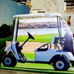 Golf Caddy als UV-Plattendirektdruck