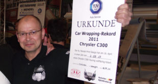 Car Wrapping Weltrekord
