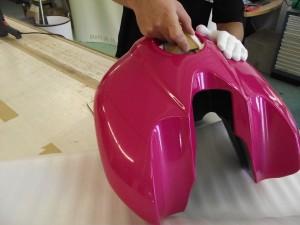 Motorrad Tank Voll Verklebung 1