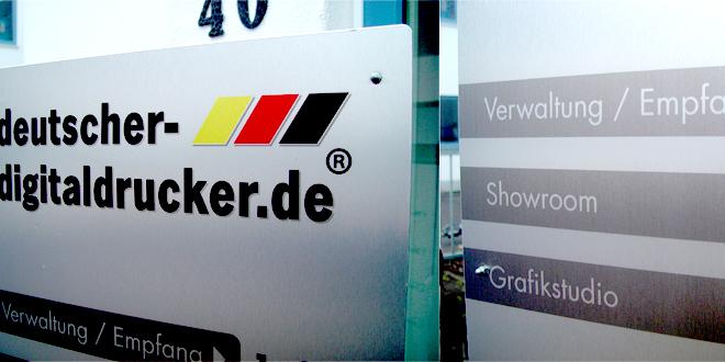 Edle Aluminium-Stele von deutscher-digitaldrucker.de