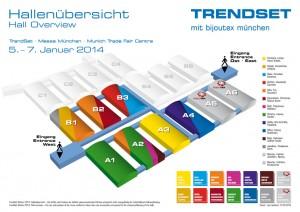 Hallenübersicht Trendset 2014