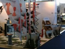 Messestand wetec Detail