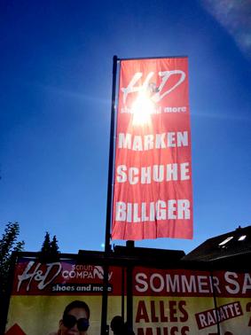 Werbeflagge