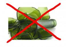 Stop für Glasscherben