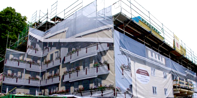 Fassadenplanen