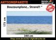 Bauzaunplane Strand  mit Meerblick