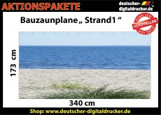 Bauzaunplane Strand 1