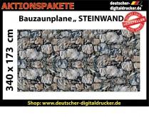Bauzaunplane Motiv Steinmauer