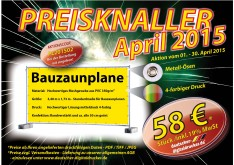 Aktion  Bauzaunplane April 2015
