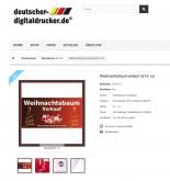 Werbebanner Plakat Weihnachtsbaum Rot2x1
