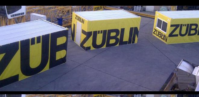 Spannsystem für Container-Hussen von DDD
