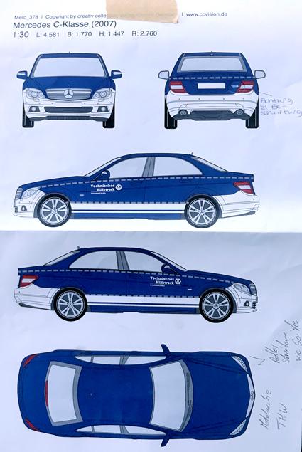 Fahrzeugbeschriftung Zeichnung
