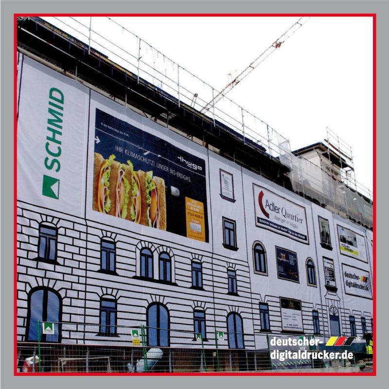 Fassadenwerbung von Mendel Printdesign in Wangen im Allgäu