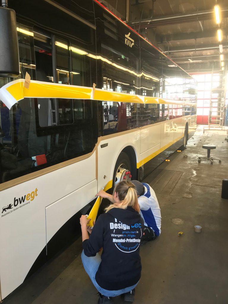Stadtbusfolierung in Offenburg